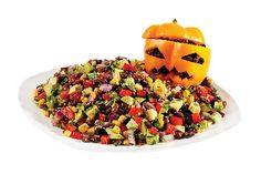 Mexican Night Rapsodia Salad - Black Beans, Corn, Avocado with Chipotle-Honey Vinaigrette from #YummyMarket Halloween Special