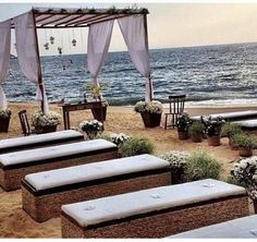 Perfection!  Love the bench style seating, love the cushions, love all of this!