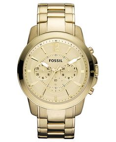 Fossil Men s Chronograph Grant Gold Ion Plated Stainless Steel Bracelet  Watch 44mm FS4724 Jewelry   Watches - Watches - Macy s 7d029e9f6