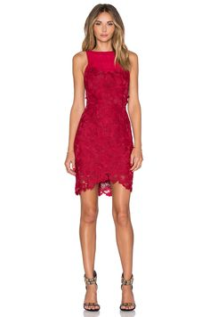 SAYLOR Crista Dress in Rouge | REVOLVE