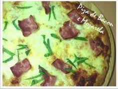 Ponto de Rebuçado Receitas: Piza de bacon e mozarela