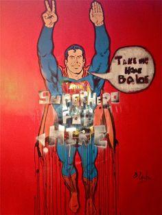 Muy fan de @domingozapata Superhero for hire! nuevo pop_art