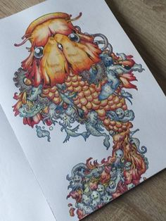 Invasion Coloring Book Completed Pages Inspiration By Queen See More Doodle
