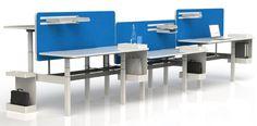 Modular Height Adjustable Benching Workstations