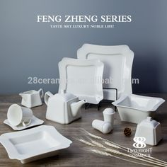 Custom White Ceramic Chinese Porcela...