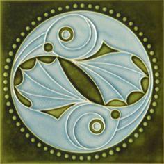 Art Nouveau Tile - Golem Kunst- und Baukeramik