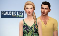 Un Sims au bout du fil. - Realistic Lips for the Sims 4. I think EA did an...