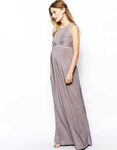 Image 4 ofIsabella Oliver Sleeveless Gathered Front Maxi Dress