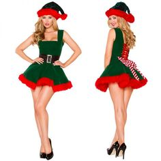 Women Santa's Helper Costume Green and Red Hairy Christmas Dress Women Santa's Helper Costume Green and Red Hairy Christmas Dress.Women Santa's Helper Costume Green and Red Hairy Christmas Dress. Xmas Fancy Dress, Christmas Elf Costume, Christmas Dress Women, Fancy Dress Outfits, Dress Hats, Santa Dress Women, Halloween Christmas, Christmas Scenes, Christmas Parties