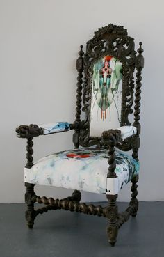 We love Timorous Beasties chairs. It's so great to see period chairs brought into modern day BourneEndAuctionRooms