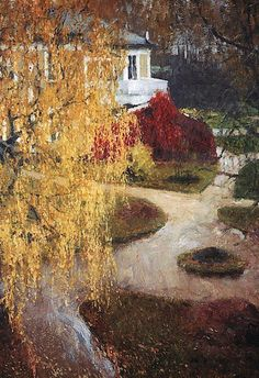 Russian post-Impressionist painter Igor Grabar: Golden Leaves 1901