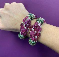 Mughal Jewelry, Beaded Bracelets, Leather, Fashion, Moda, Fashion Styles, Pearl Bracelets, Fashion Illustrations, Seed Bead Bracelets