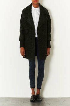 Slouchy Mohair Boyfriend Coat --waiting for sale season