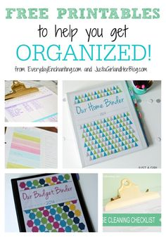 Tons of free printables that will definitely get you organized! | Everyday Enchanting for Just a Girl and Her Blog