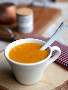# Recette #Velouté de #potiron au #massalé Veggie Recipes, Cheeseburger Chowder, Fondue, Veggies, Tableware, Ethnic Recipes, Biscuits, Cookies, Cooker Recipes