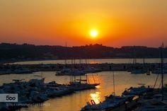 always the same sun  by aita17  boats harbour italy sunset aita17