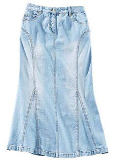 Amei e Vocês ???   Saia jeans longa Tamanho curto verde  MAIS DETALHES!  http://imaginariodamulher.com.br/look/?go=2cuAf83