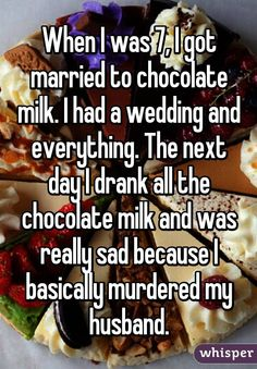 Or something close to this. For me it was chocoalte bars.i ate him and the family.it was a multi race family so i had snickers, kitkats,and my lovely husband was a hersheys(cuz he had pecs) Whisper Funny, Whisper Quotes, Whisper App, Funny Kids, Funny Cute, Hilarious, Funny Fun Facts, Funny Memes, Cat Memes