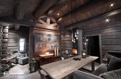 Chalet Style, Conference Room, Real Estate, Cabin, Inspiration, Furniture, Huckleberry, Home Decor, Modern