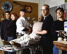 The Mythbusters , even the test dummy Buster who is severely beaten in testing is seen here. Great scientists who want to expand the envelope and are fearless about the results.