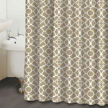 Waverly Lovely Lattice Taupe Shower Curtain