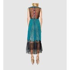 Discover the Women's Fashion Collection at GUCCI UK. Gucci Dress, Moda Boho, Boho Fashion, Womens Fashion, Tulle Dress, Tie Dye Skirt, Dresses Online, Evening Dresses, Women Wear