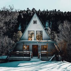 love a-frame cabins.
