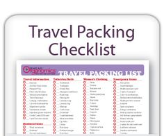 Travel packing can bring with it that feeling that you are forgetting something. With this travel packing checklist you can help take the stress out of packing for travel. Make sure you remember everything you need with this Travel Packing Checklist... www.facebook.com/cluborganomics  www.twitter.com/smeadorganomics  www.youtube.com/smeadorganomics  www.Gplus.to/Smead  www.pinterest.com/smeadorganomics
