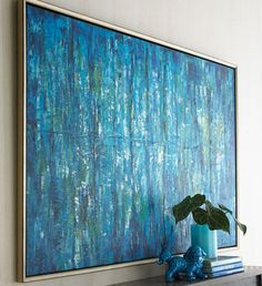 """""""Blue Jinlu"""" Painting - contemporary - artwork - - by Horchow"""