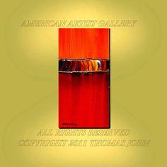 ORIGINAL ABSTRACT Modern Colors Verticle door americanartsgallery, $199.70