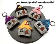 Items similar to cute house keychain / bag charm-simple handmade gifts for your first house celebration - housewarming / cute colors birthday gift ideas on Etsy, Check more at. Knitting Patterns, Crochet Patterns, Crochet Keychain, Crochet Earrings, Cute House, Felt Fabric, House Colors, Creations, Handmade Gifts