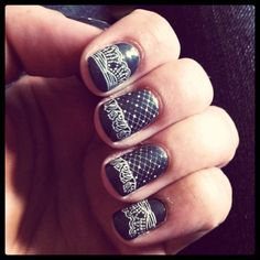 Victorian nail-art ~love these~