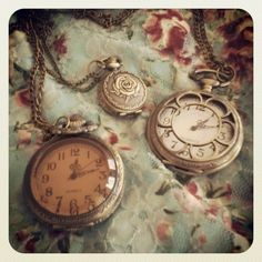 Vintage Inspired Pocketwatch necklaces