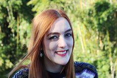 ginger - red hair - make up - maquiagem - pin up eyeliner - delineador gatinho - batom vermelho - red lips - piercing - white skin - strong lips