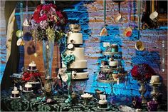 fancy cake table | CHECK OUT MORE IDEAS AT WEDDINGPINS.NET | #weddingcakes