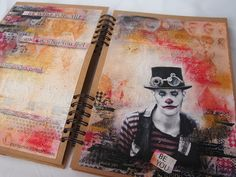 Creative Gym Exercise - Art Recipes - art journal spread by Gayle