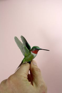 London artist Zack Mclaughlin creates realistic sculptures of birds from wood, paper and leaves of trees. Hummingbird Pictures, Hummingbird Art, Ruby Throated Hummingbird, Pretty Birds, Beautiful Birds, Clay Birds, Birds 2, Wood Carving Art, Paper Birds