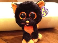 """Ty MOONLIGHT the 6"""" Halloween Cat Beanie Baby Boos Boo's NEW ~ MINT ~ RETIRED"""