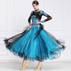 a068b3cf1b522e Click to Buy << customize blue black patchwork puff long sleeve Fox trot