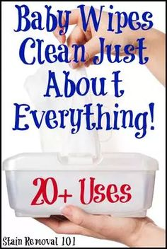 Baby Wipes Clean Everything!: Alternate Uses For This Common Item