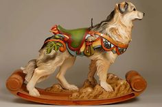Carousel dog by Tim Racer - one of his amazing custom carousel dogs, some of them customized for their owners.