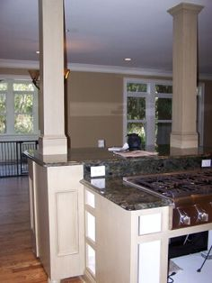 Kitchen Island With Columns kitchen islands with pillars | kitchens with columns design ideas