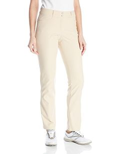 adidas Golf Womens Essentials Lightweight Full Length Pants Lite Khaki Size 10 * Learn more by visiting the image link.