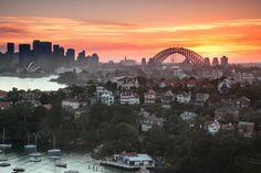 Sunset over Sydney harbour - Gordon Bell