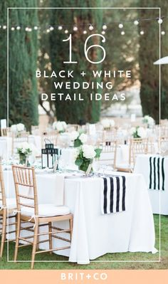 Black and White Details for a Minimalist Wedding | Brit + Co