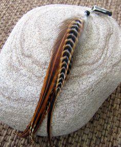 Feather hair clip $14