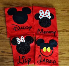 Disney Family Shirts/Disney Matching Shirts/Disney Shirts/ Vacation Shirts /Custom Disney Shirts /Mickey Mouse /Minnie Mouse Inspired - Awsome Shirts - Ideas of Awsome Shirts - Custom Disney/Mickey Mouse Inspired Family Shirts by GlitterTee Mickey Mouse Birthday, Minnie Mouse Party, Mouse Parties, Disney Mickey Mouse, 2nd Birthday, Mickey Mouse Family Shirts, Disney Shirts For Family, Mickey Shirt, Family Tees