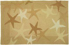 Starfish Field Beige Area Rug