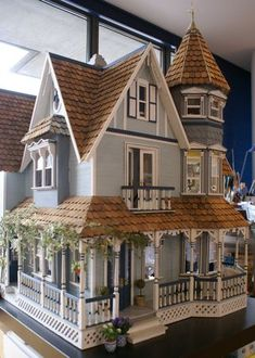 Doll house called Maison Garfield--Queen Anne style