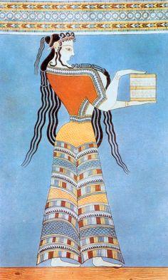 Mycenaean woman fresco, c. 1300 BC
